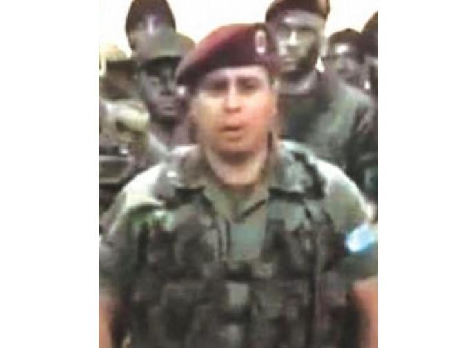 Il capo dei militari ribelli, capitano Caguaripano