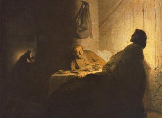 La Cena in Emmaus, i discepoli riconoscono il Risorto