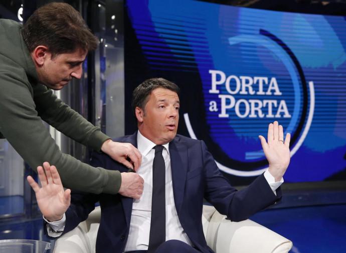 Renzi, ospite a Porta a Porta