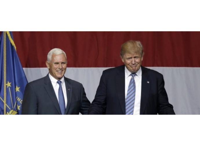 Michael Pence e Donald Trump