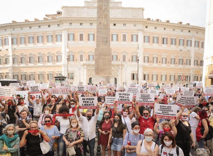 La manifestazione di Roma