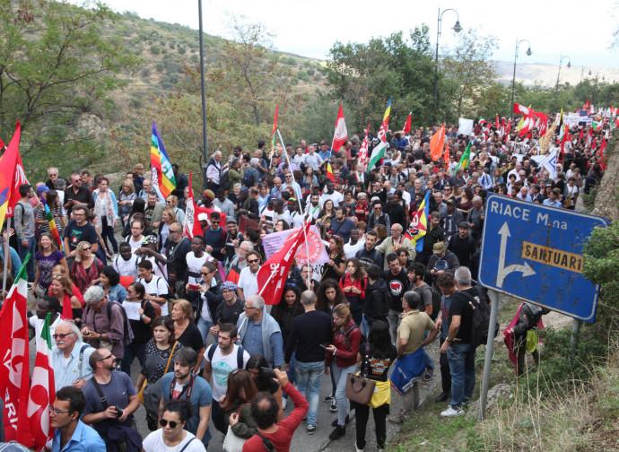 Manifestazione pro-sindaco di Riace