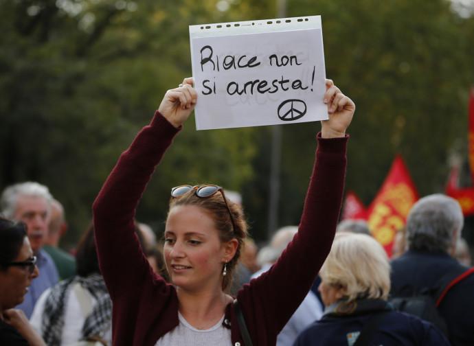 Manifestazione pro-sindaco