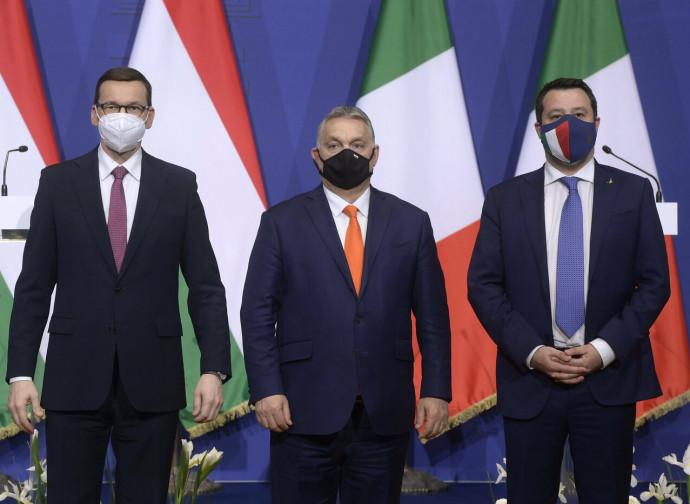 Morawiecki, Orban e Salvini