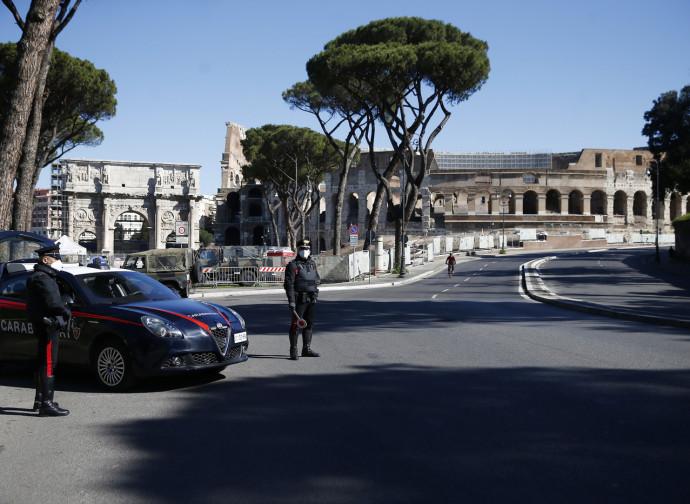 Roma sotto il lockdown