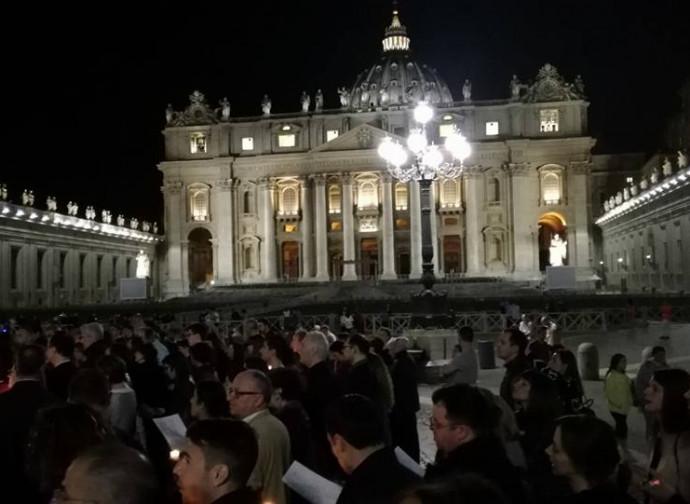 Veglia a Roma, piazza san Pietro
