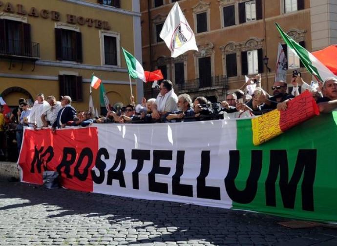 Manifestazione del M5S contro il Rosatellum bis