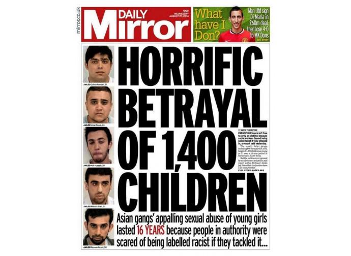 Il caso Rotherham nella stampa popolare britannica