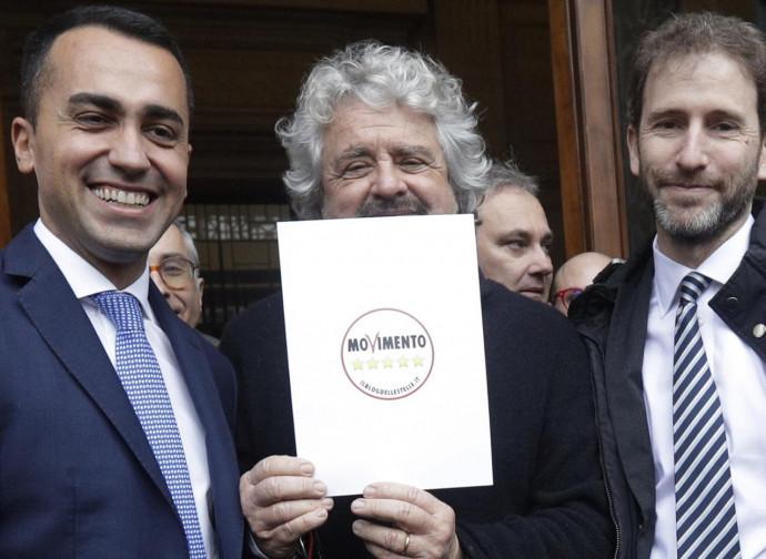 Di Maio, Grillo e Casaleggio
