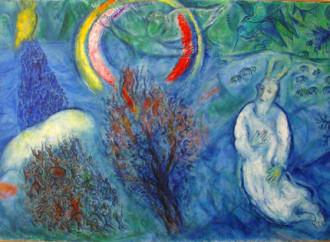 Mosè e la teofania del roveto ardente secondo Chagall