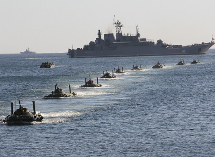 Esercitazione della flotta del Mar Nero russa