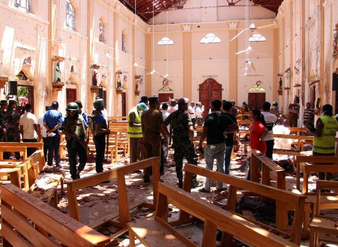 La chiesa di San Sebastiano distrutta da una delle bombe
