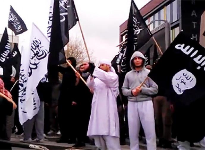 Manifestazione di radicali islamici in Germania
