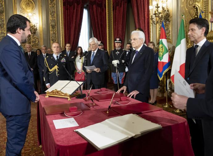 Salvini, Mattarella e Conte