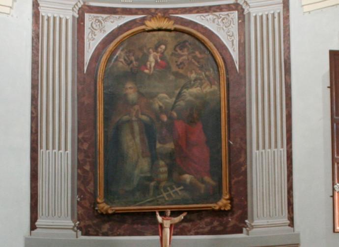 San Damaso nella pala d'altare della chiesa omonima di Stiolo (RE)