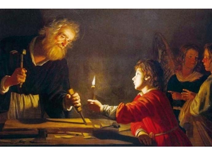 Gerrit Van Honthorst, «San Giuseppe e il giovane Gesù» (1630)