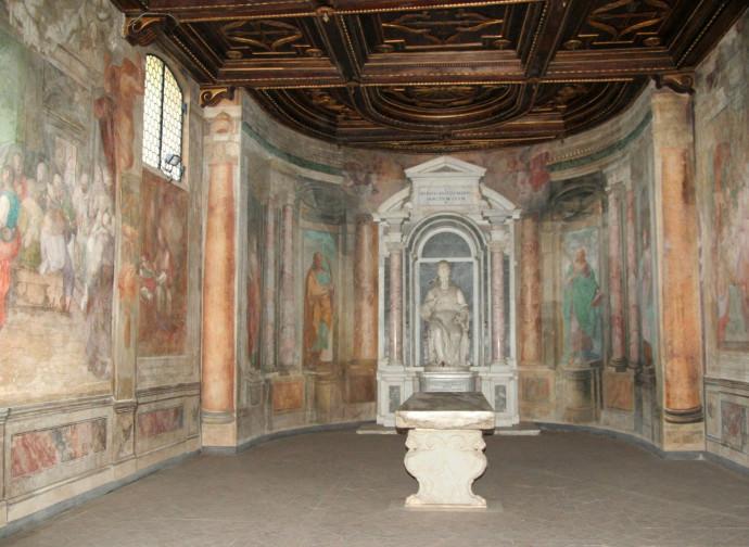 L'oratorio di Santa Barbara al Celio dove sorgeva il Triclinium Pauperum