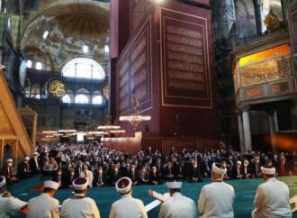 24 luglio 2020. La prima preghiera islamica nella Basilica di Santa Sofia