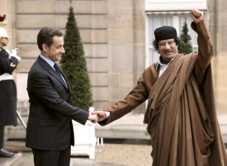 Sarkozy e Gheddafi nel 2007