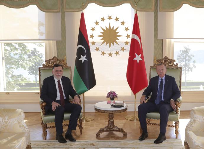 Sarraj ed Erdogan (quando erano alleati)