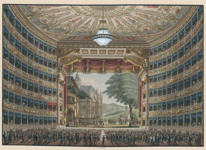 Teatro alla Scala di Milano, stampa del 1830