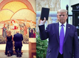 Trump difende le chiese e prega. I vescovi lo attaccano