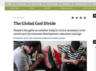Sondaggio globale: il mondo crede ancora in Dio