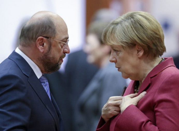 Schulz e la Merkel
