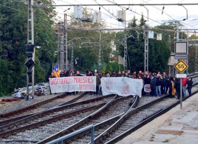 Catalogna, blocco della ferrovia