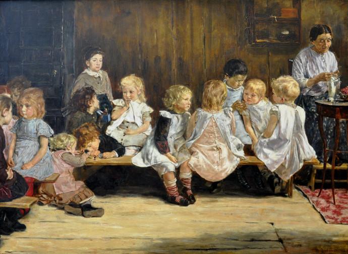 Scuola parentale vintage