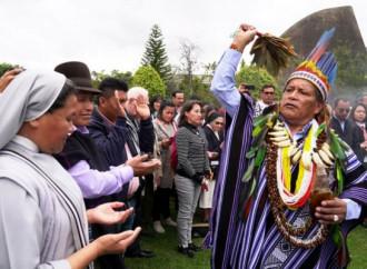 """Hacia el Sinodo, con la """"bendicion"""" del brujo amazònico"""