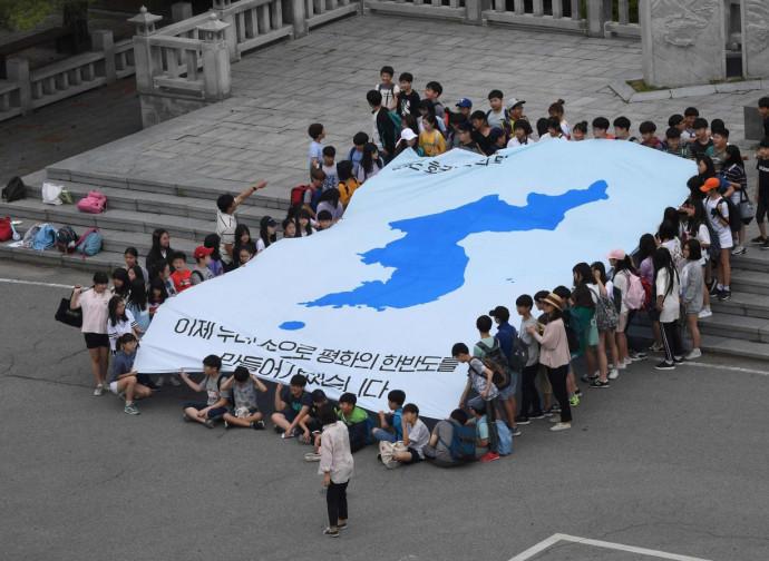 La bandiera dell'unità coreana