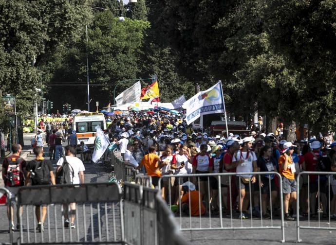 I giovani all'incontro del Circo Massimo di Roma