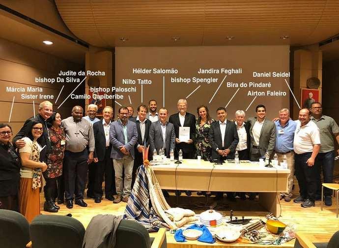 L'incontro con i politici brasiliani organizzato dal Repam