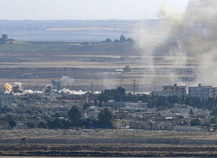 Bombardamenti turchi in Siria