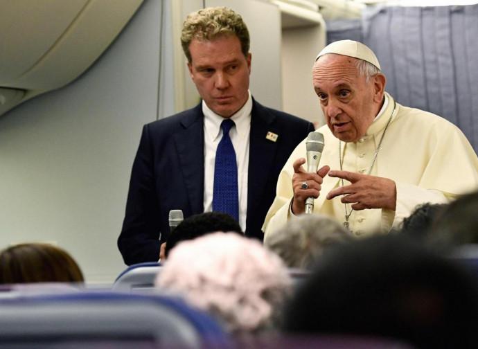 Il Papa in conferenza stampa sull'aereo