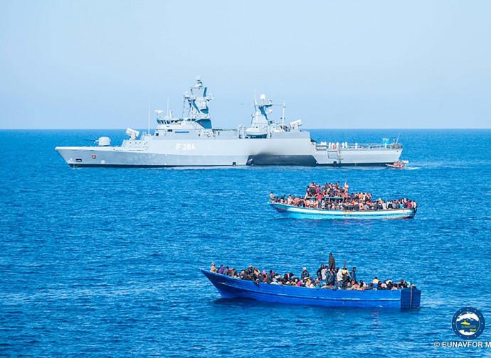 Soccorso in mare da parte della missione Ue