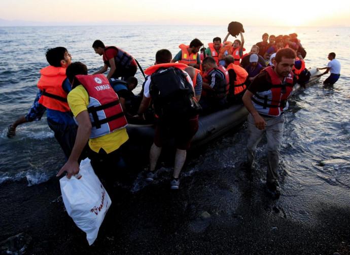 Arrivod i immigrati a Kos, in Grecia