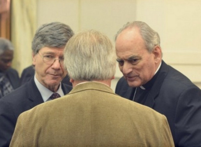 Jeffrey Sachs e Marcelo Sanchez Sorondo