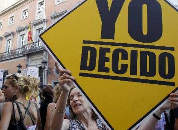 Manifestazione abortista in Spagna