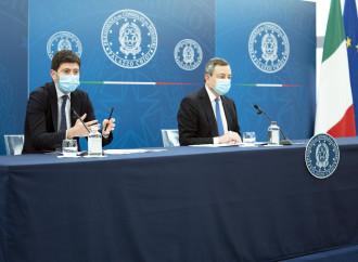 Roberto Speranza e Mario Draghi