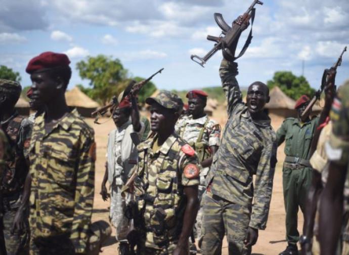 Soldati dell'Spla a Juba