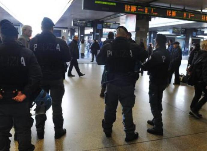 Polizia a Roma Termini