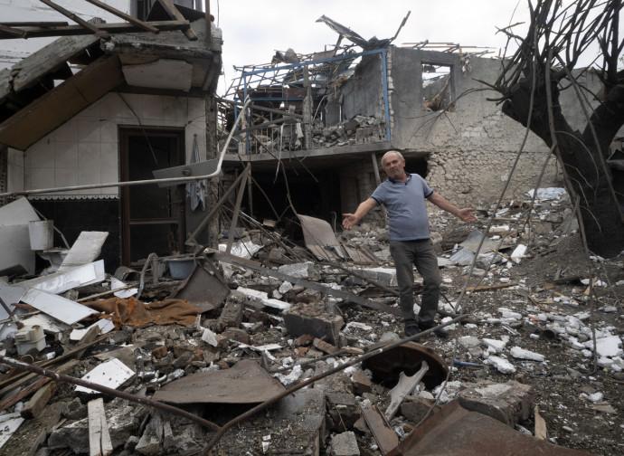 Stepanakert, gli effetti dei bombardamenti