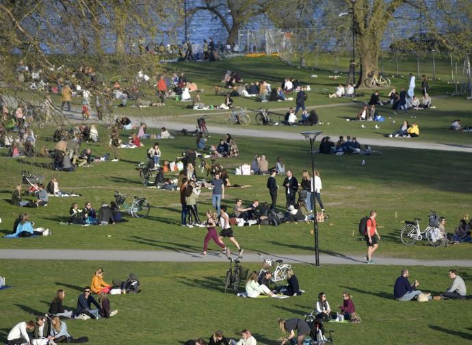 Un parco a Stoccolma nell'aprile 2020 (mentre noi eravamo in lockdown)