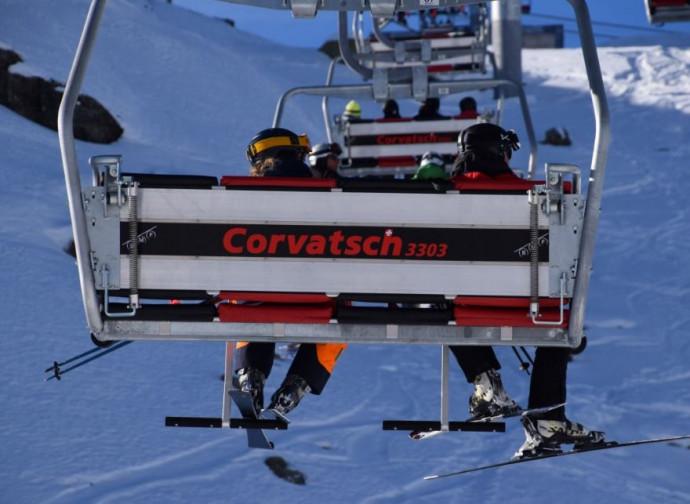 Sciatori sul Corvatsch, Svizzera