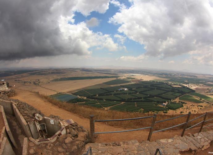 La Siria vista dalle alture del Golan