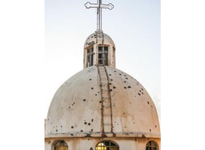 Chiesa siriana distrutta