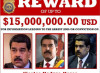 15 milioni di taglia su Maduro. Da ora è ricercato