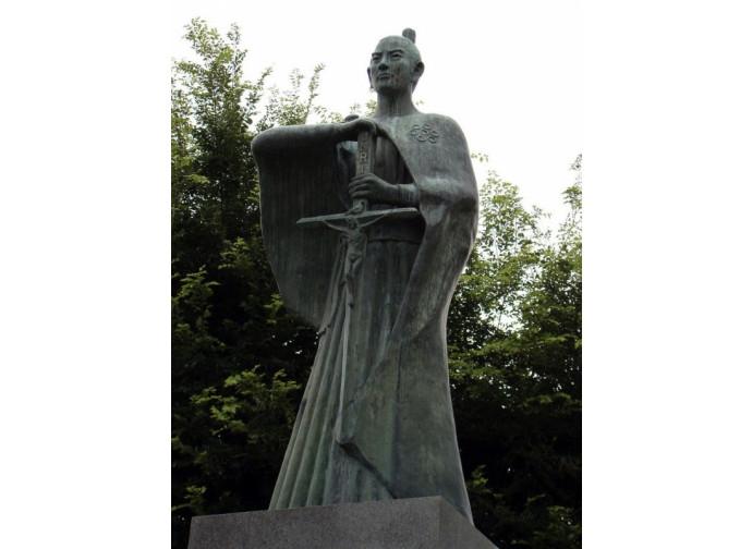 La statua di Takayama Ukon, il samurai di Cristo, a Manila